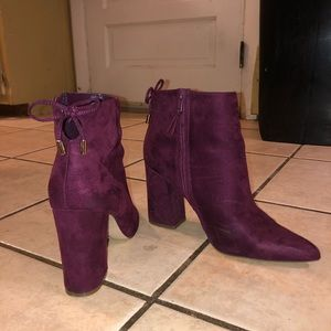 Purple Suede boots!